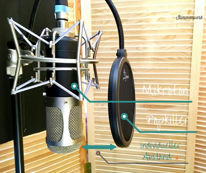 Popkiller,ein Windschutz für deinen individuellen Abstand zum Mikrofon