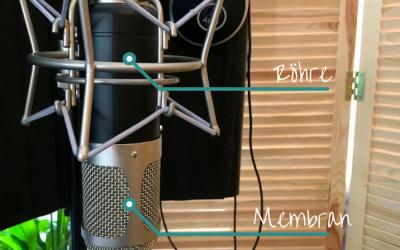 Studiomikrofone klingen besser, wenn sie kopfstehen