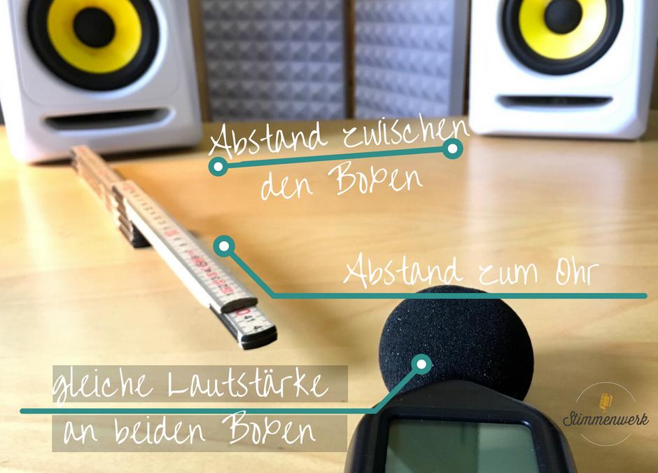 Studiomonitore für deinen idealen Stereo-Mix positionieren