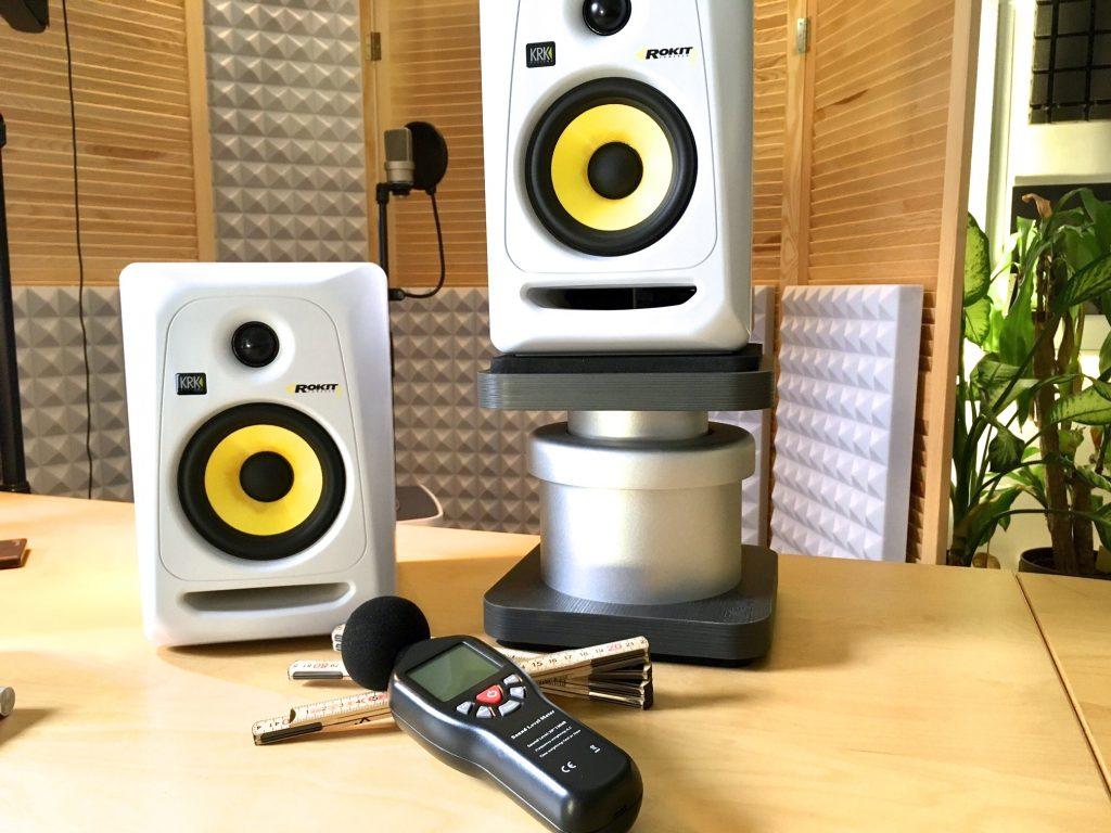 Stimmenwerk Studiomonitore positionieren